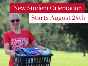 New Student Orientation Aug 24